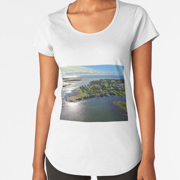 Mallacoota Town Center with Gabo Island in the background Premium Scoop T-Shirt