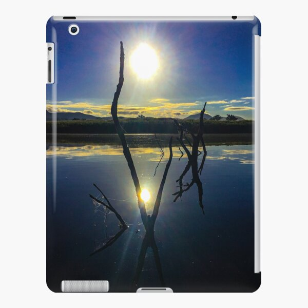 Sunrise through forked branches iPad Snap Case