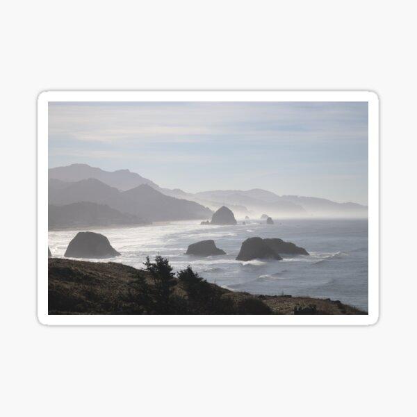 Ocean mist at Cannon Beach Sticker