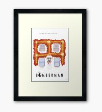 Bomberman Walk Away Framed Print