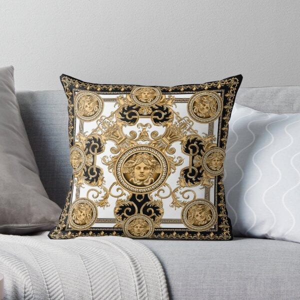 Baroque décoratif de luxe avec tête de méduse Coussin