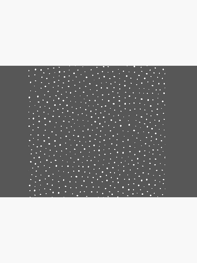 Dark gray & white polka dot pattern by wajdibelhaj
