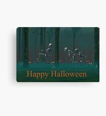 A Skeleton Halloween Canvas Print