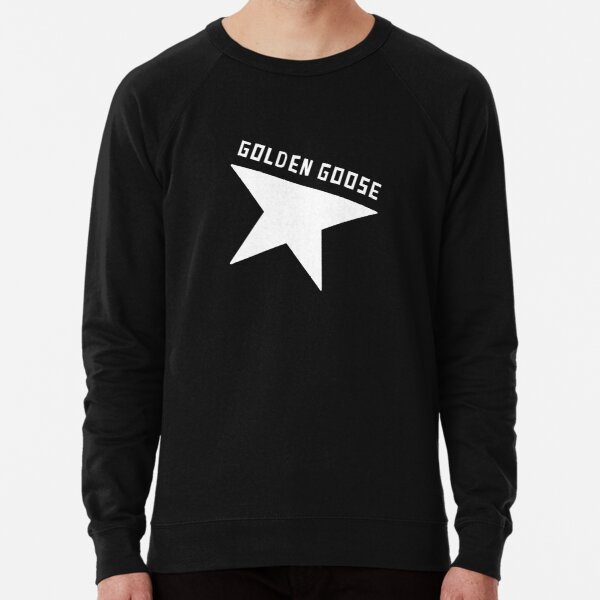 Black and white inspired Golden Goose Logo Lightweight Sweatshirt