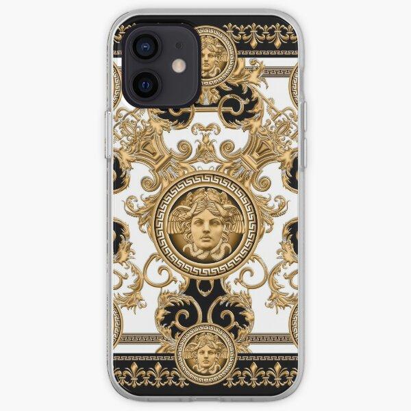 Baroque décoratif de luxe avec tête de méduse Coque souple iPhone