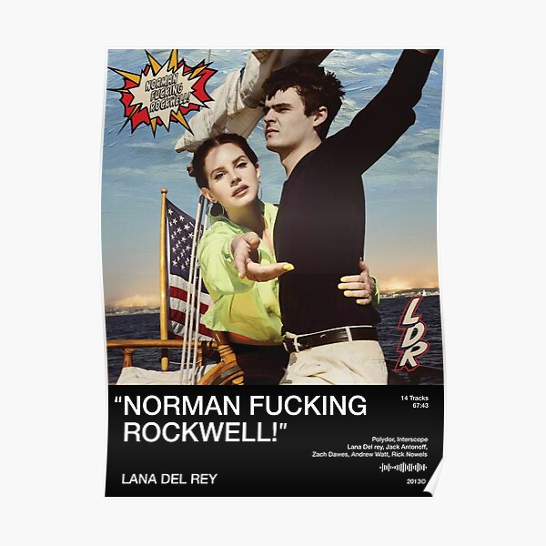 Norman F *** ing Rockwell Poster