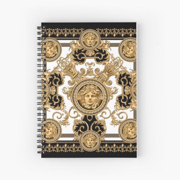 Baroque décoratif de luxe avec tête de méduse Cahier à spirale