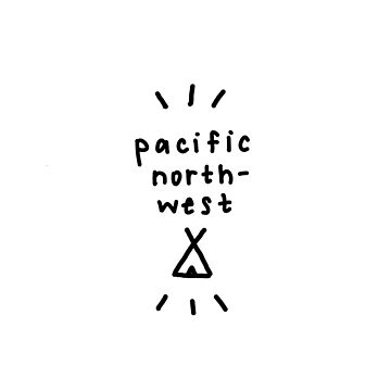 pacific northwest tent drawing by thirdfocus