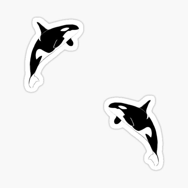 Orca Pattern in Black and White Sticker