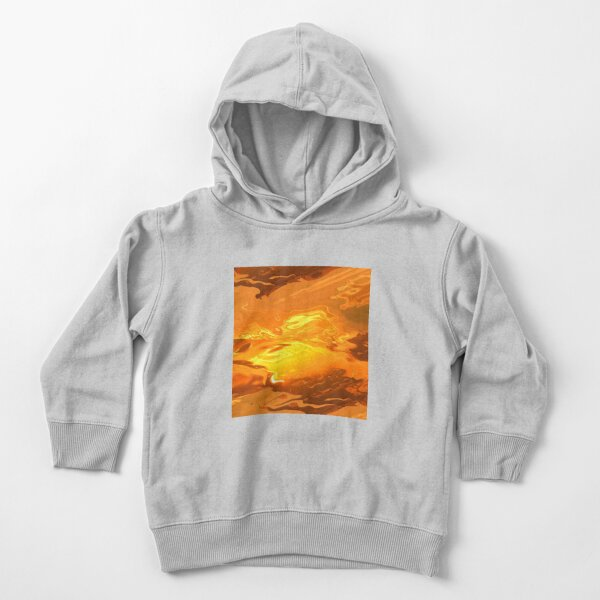 Acrylic Abstract Brown And Gold Toddler Pullover Hoodie