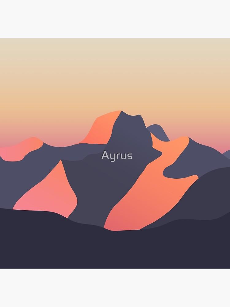 Mountain Sunset by Ayrus