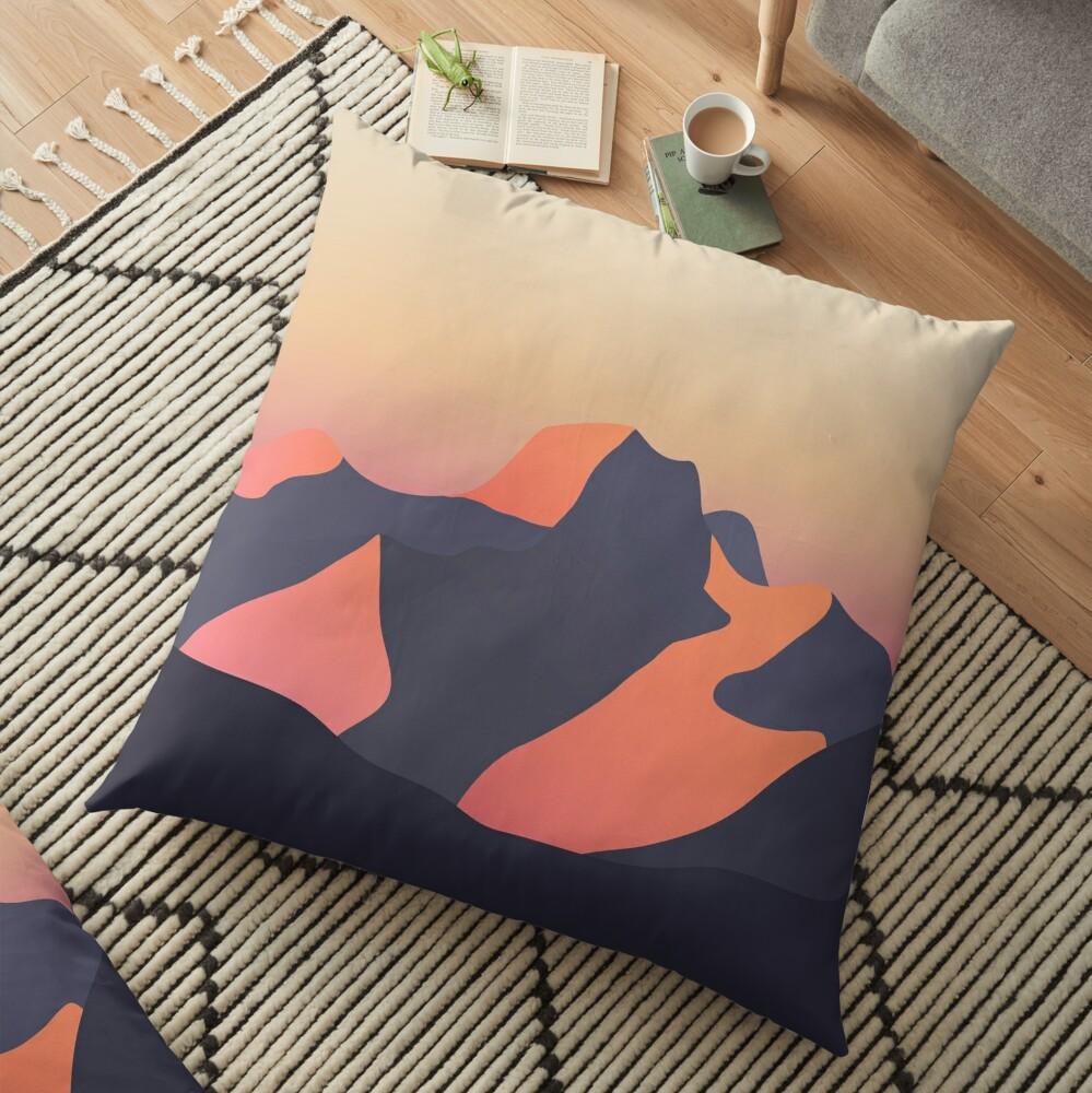Mountain Sunset Floor Pillow
