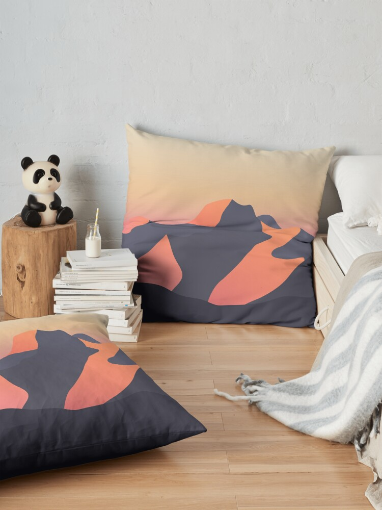 Alternate view of Mountain Sunset Floor Pillow