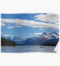Mountains of Maligne Lake 1 Poster