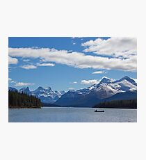 Mountains of Maligne Lake 1 Photographic Print