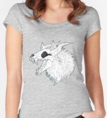 Skull Wolf Fitted Scoop T-Shirt