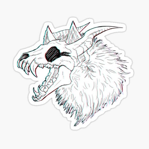Skull Wolf Sticker