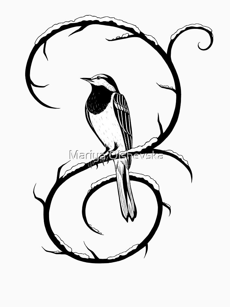 White Wagtail Sitting on a Swirl by OzureFlame