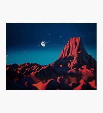 Space art landscape: Loneliness Photographic Print
