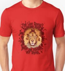 The lion doesn't concern itself with the opinions of sheep T-Shirt