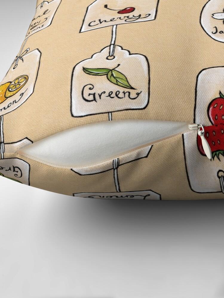 Alternate view of Tea Tag Time Throw Pillow
