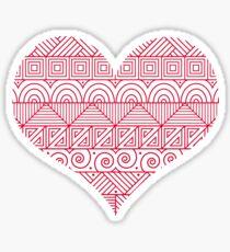 Patterned Valentine Sticker