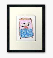 OG Annoyed Sleeping girl - ABC '14 Framed Print