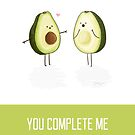 Avocados - 'You Complete Me' Valentines Day Card by NerdCat