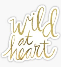 Wild at Heart – Turquoise & Gold Sticker