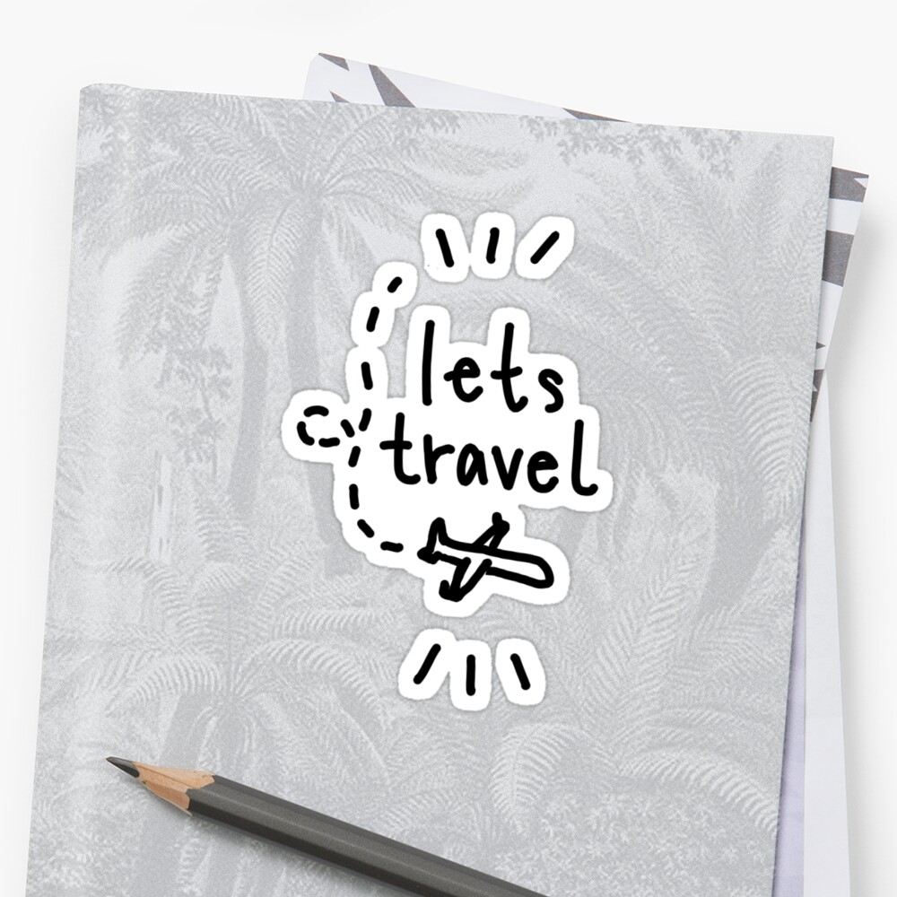lets travel plane drawing by thirdfocus
