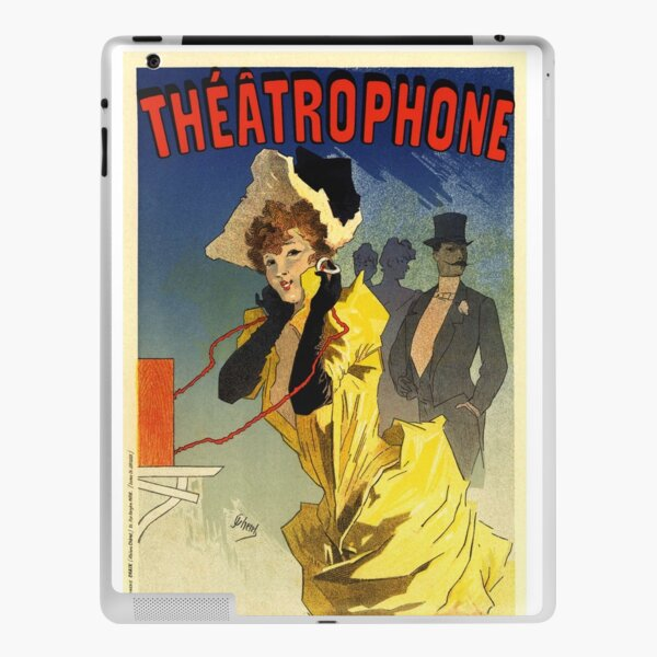 French Vintage Poster Theater Ad French Vintage Poster Art Nouveau iPad Skin