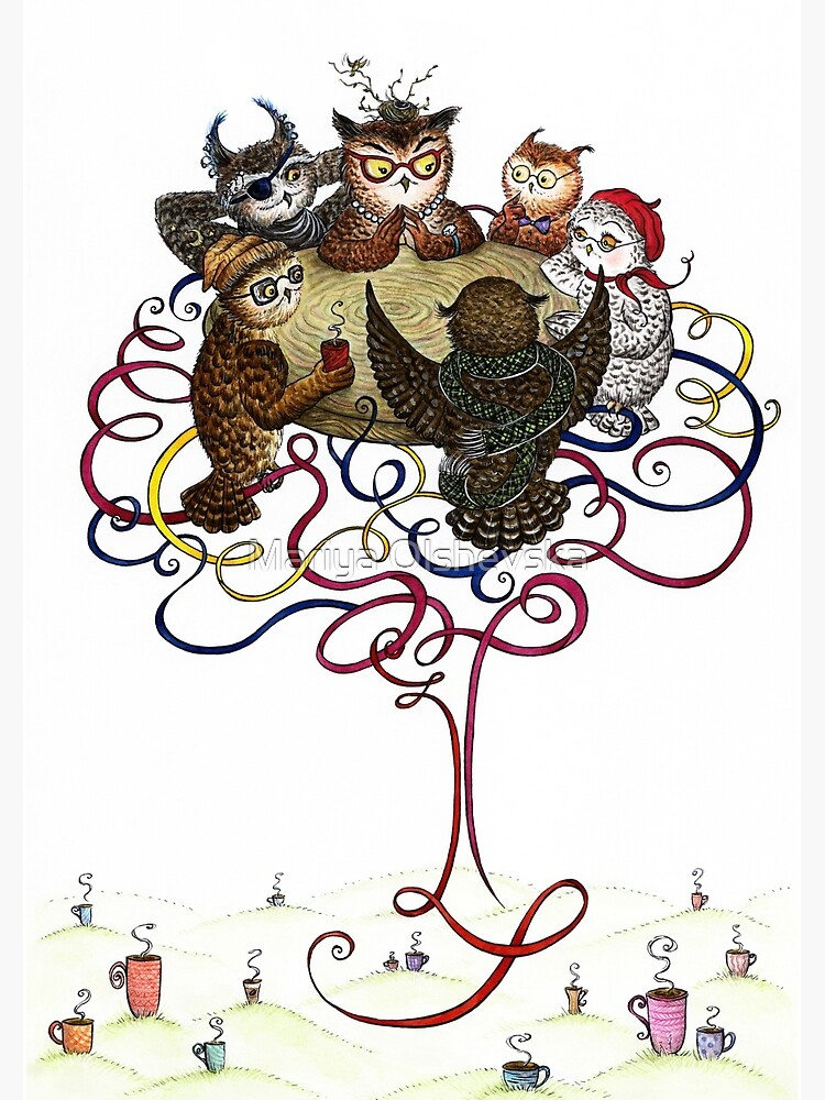 Art-School Owl Assembly by OzureFlame