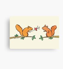 Tickle Tickle Little Squirrel Canvas Print