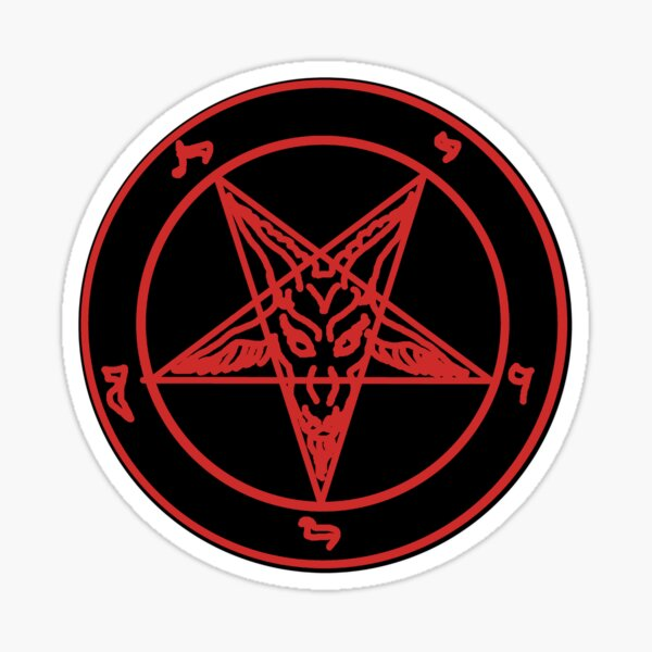 Red Baphomet Sticker