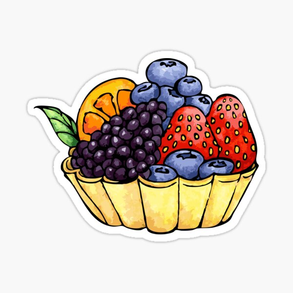 Fruit and Berry Dessert Cup Sticker