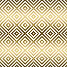 Modern gold geometric pattern by artonwear