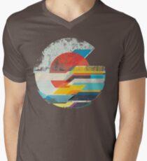 Digital Sun Horizon  Men's V-Neck T-Shirt