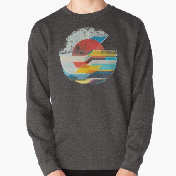 Digital Sun Horizon  Pullover Sweatshirt