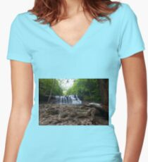 Brush Creek Falls Women's Fitted V-Neck T-Shirt