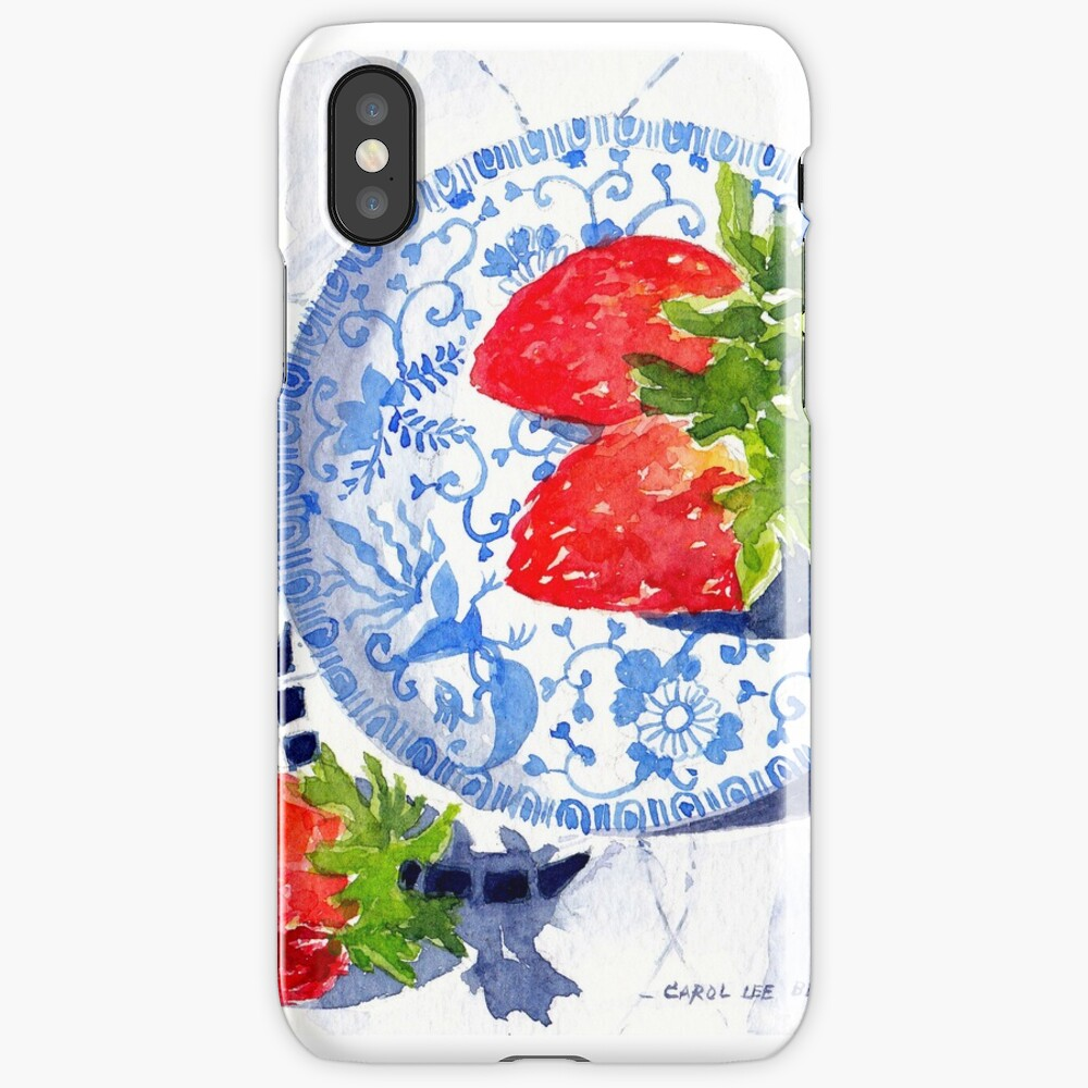 Three Strawberries - watercolour painting iPhone Case & Cover