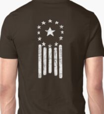 Old World American Flag [WHITE] Unisex T-Shirt