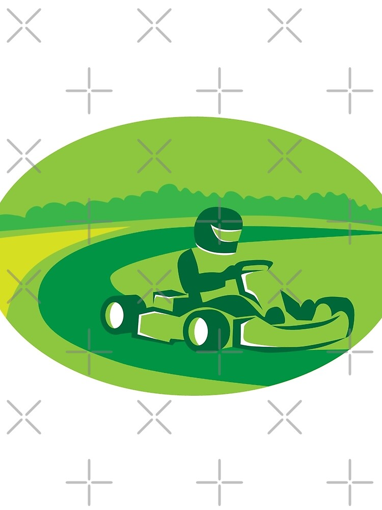 Go Kart Racing Oval Retro by patrimonio