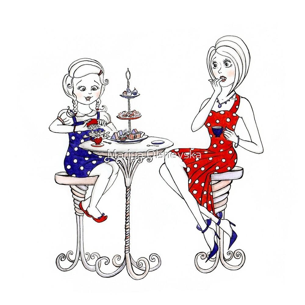 Tea With One's Former Self by Mariya Olshevska