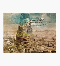 The Tower of Babel Photographic Print