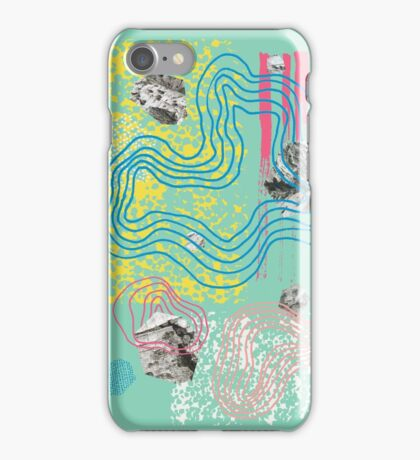 Dissected Garden in Mint Green iPhone Case/Skin
