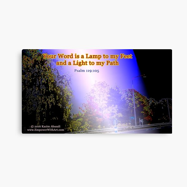 Your word is a lamp to my feet Canvas Print
