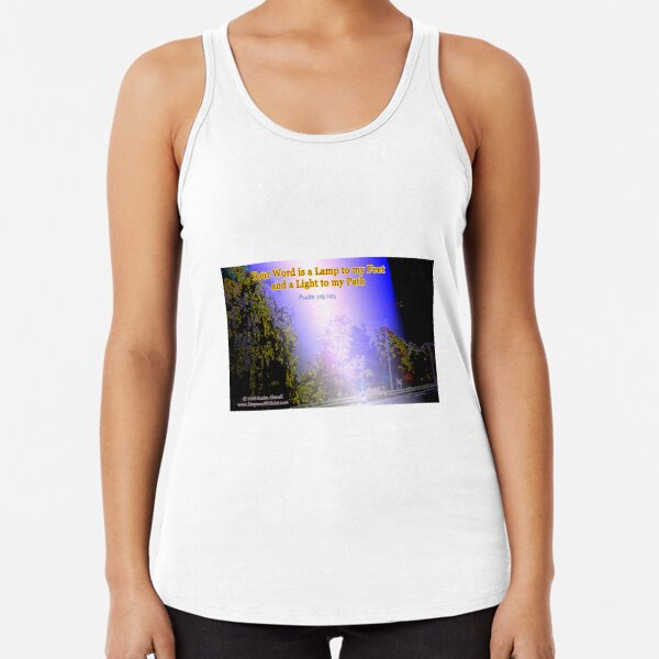 Your word is a lamp to my feet Racerback Tank Top