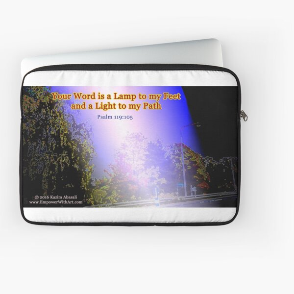 Your word is a lamp to my feet Laptop Sleeve