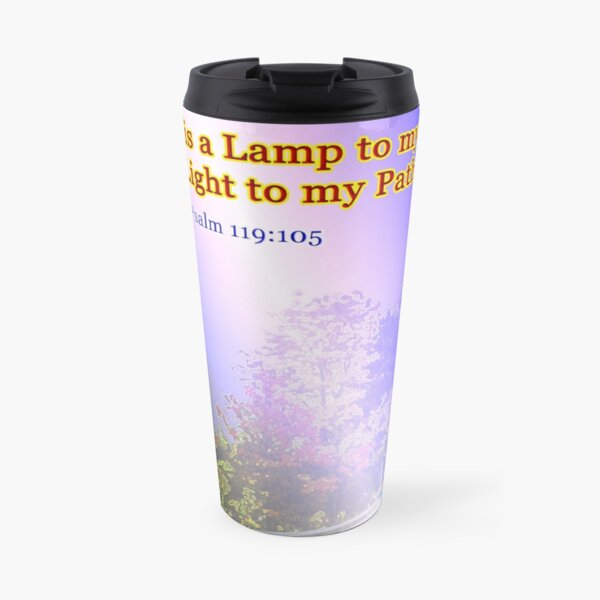 Your word is a lamp to my feet Travel Mug