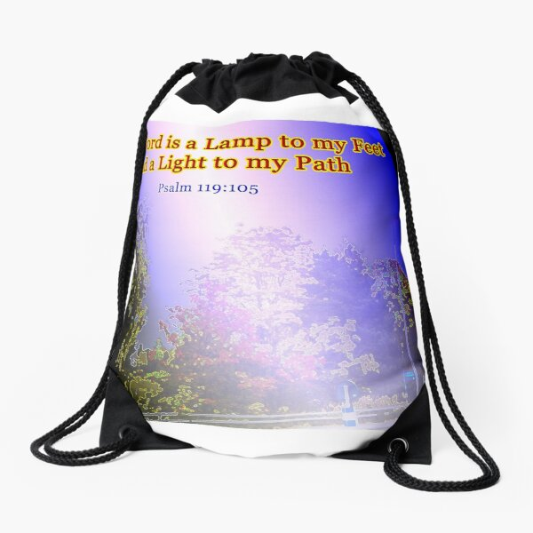 Your word is a lamp to my feet Drawstring Bag